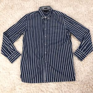 Tommy Hilfiger Blue Striped Long Sleeve Shirt